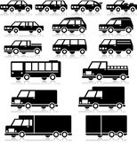 Retro Vehicles Icon Set Royalty Free Stock Image