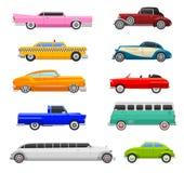 Retro veicolo di vettore dell'automobile illustrazione vettoriale