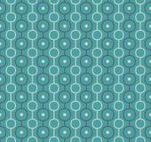 Retro- Vektor-Atomhintergrund, der Muster wiederholt Stockfotos
