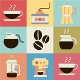 Retro- Vektor des Kaffees Lizenzfreies Stockfoto