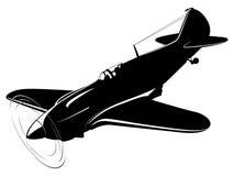 retro vektor för flygplanbakgrundspapper Arkivfoton