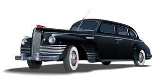 retro vektor för limousine Royaltyfria Foton