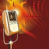 retro vektor för mikrofon Royaltyfria Bilder