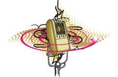 retro vektor för mikrofon Arkivfoto
