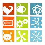 retro vektor för roliga symboler Royaltyfria Bilder