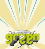 Retro- Vektor gehen Grün Stockbilder