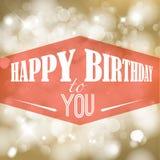 Retro vektorillustration för lycklig födelsedag Arkivfoton
