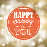 Retro vektorillustration för lycklig födelsedag Fotografering för Bildbyråer