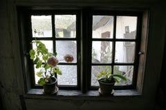 Retro venster Stock Afbeelding