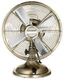 Retro ventilatore antiquato del tavolo dell'ottone e dell'argento Fotografia Stock Libera da Diritti
