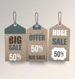 Retro- Verkaufs-Tags Lizenzfreie Stockbilder