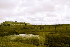 Retro verlaten landbouwbedrijf Stock Afbeelding