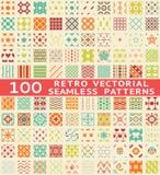 Retro verschillende vector naadloze patronen (met Royalty-vrije Stock Afbeeldingen