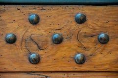 Retro- Verzierung auf Holz Lizenzfreies Stockfoto