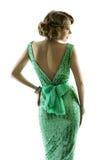 Retro vestito dallo zecchino della scintilla di modo della donna, stile d'annata elegante Immagine Stock