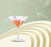 Retro vetro di cocktail Immagine Stock Libera da Diritti