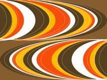 Retro vette oranje bruine krommen vector illustratie