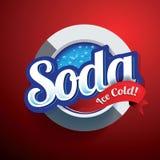 Retro vettore di progettazione della soda Fotografia Stock