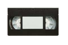 Retro vhs video cassette. Blank vhs video cassette tape isolated on white background stock photos