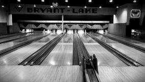 Retro vicolo di bowling di Minneapolis immagine stock libera da diritti