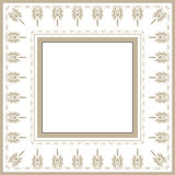 Retro victorian frame Royalty Free Stock Image