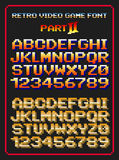 Retro video game font 2 Stock Image