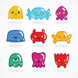 Retro video game monsters set Royalty Free Stock Photos
