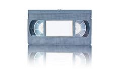 Retro Video tape cassete  on white backgro Stock Photo