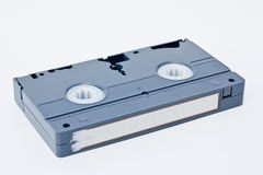 Retro Video tape cassete  on white backgro Stock Photography