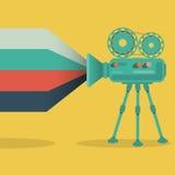 Retro videocamera vlak ontwerp Royalty-vrije Stock Afbeelding