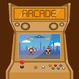 Retro videogame  arcade machine card royalty free illustration