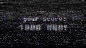 Retro videogametext på den gamla tvskärmen Färgrik dynamisk livlig bakgrund för ny kvalitets- universell tappningrörelse lager videofilmer
