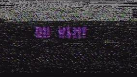 Retro videogioco vincete il testo sul vecchio schermo di interferenza di impulso errato della TV Moto d'annata universale di nuov illustrazione di stock