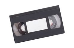 Retro videotape isolated on white Royalty Free Stock Photos