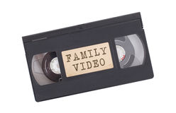 Retro videotape isolated on white. Retro videotape isolated on a white background - Family video Royalty Free Stock Photography