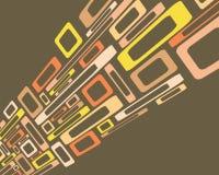 Retro- Viereckshintergrund Stockbild