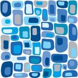 Retro vierkanten in blauw Royalty-vrije Stock Foto's