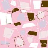 Retro vierkanten in roze Royalty-vrije Stock Foto