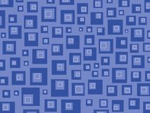 Retro vierkantenblauw royalty-vrije illustratie