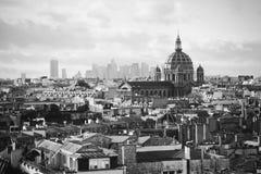 Retro view of  Paris Royalty Free Stock Photos