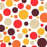Retro vintage abstract seamless background hot bright colors. Retro vintage abstract seamless background, circles on black background, dotted, bubbles, warm Royalty Free Illustration