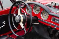 Retro Vintage Alfa Romeo Giulietta Car driver's seat and dashboa Royalty Free Stock Images