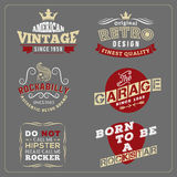 Retro vintage badge design for poster, T-shirt screen Stock Photos