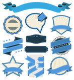 Retro Vintage Badge, Label and Banner Set. Vector Illustration EPS-10