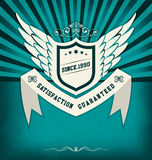 Retro Vintage Badge with Sunburst Royalty Free Stock Photography