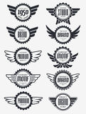 Retro Vintage Badge Vector Design Set Royalty Free Stock Image