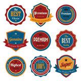 Retro vintage badges and labels. Stock Image