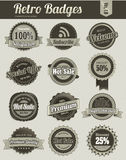 Retro Vintage Badges Royalty Free Stock Images