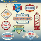 Retro Vintage Badges set Stock Image