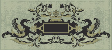 Retro,vintage,banner. Design of a  background in vintage style Stock Images